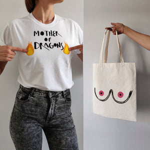 PACK OFFER Mother of Dragons T-shirt + Tote Bag