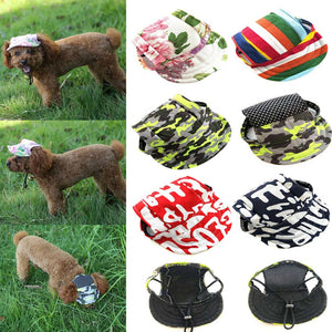 Puppy Canvas Hat Pet Dog Baseball Cap With Ear Holes Sports Summer for  Small Dogs Hot Sale 0adb4a03962c