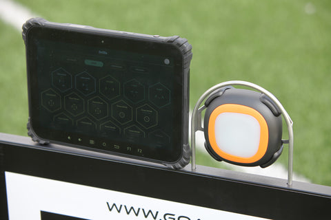 Goal Station powered by A-Champs ROX Pro interactive training system for soccer