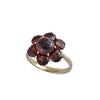 Victorian Antique Reproduction 14 karat yellow gold Bohemian Pyrope Garnet Floral Ring with Garnet, victorian fashion and more, designed by R.Victorian New York