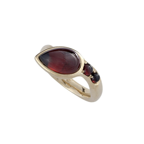 Garnet Serpent Ring