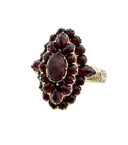 Victorian Style Marquise Garnet Ring