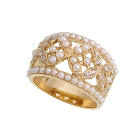 Filigree Floral Band Ring