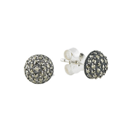 Marcasite Small Round Stud Earrings