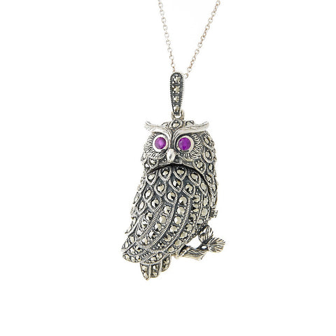 Wise Owl Locket Pendant