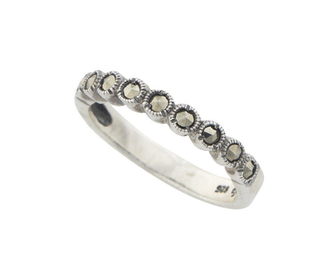 Round Marcasite simple band Ring