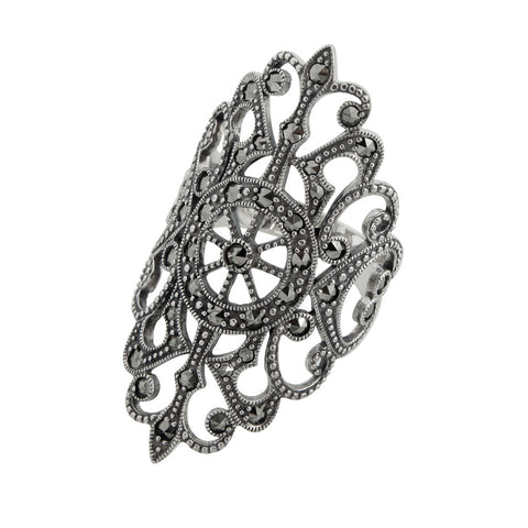 Oblong Lacework Ring