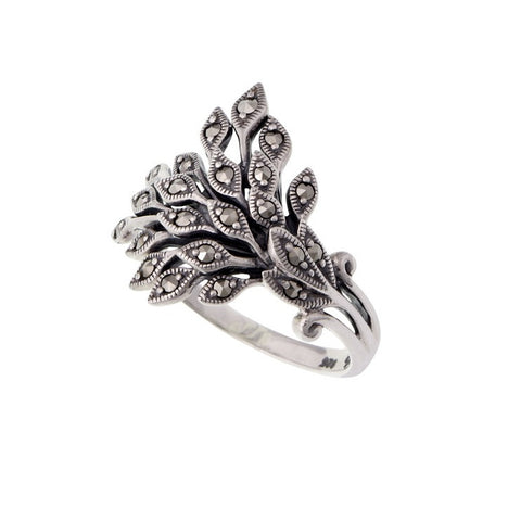 Marcasite Vine leaves Ring