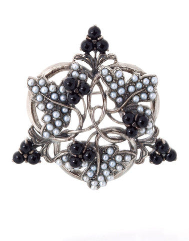 Black Currant Brooch Pin