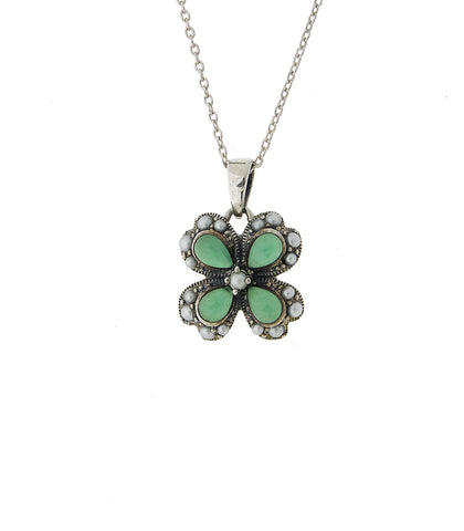 Irish Four-Leaf Clover Small Pendant