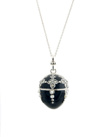 Enameled Egg Pendant (Black)