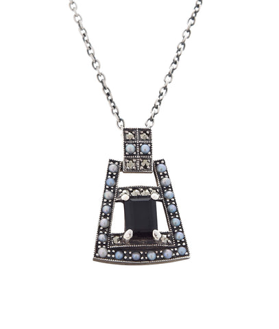 Art Deco Mini Pendant ( Onyx )