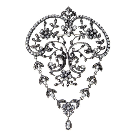 Botanical-garden Filigree Brooch / Pendant
