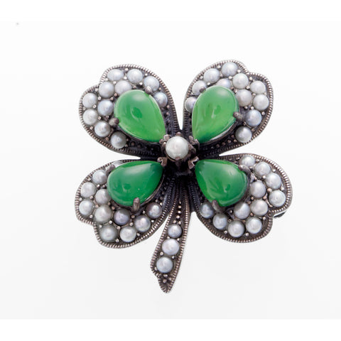 Irish Four Leave Clover Pin / Pendant