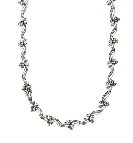 Seed Pearl and Marcasite Classic Statement Necklace