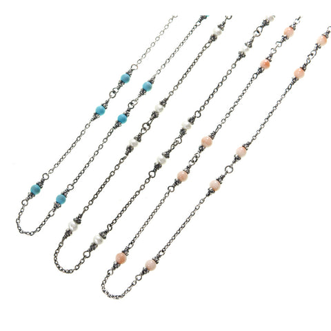 Edwardian style Chain Necklace (Turquoise)