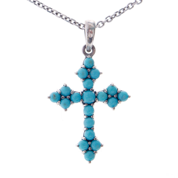 Small Cross Pendant (Turquiose)