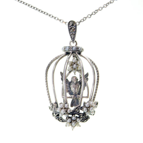Bird-in-a-cage Pendant