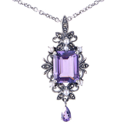 Edwardian style Small Lavalliere (Amethyst)
