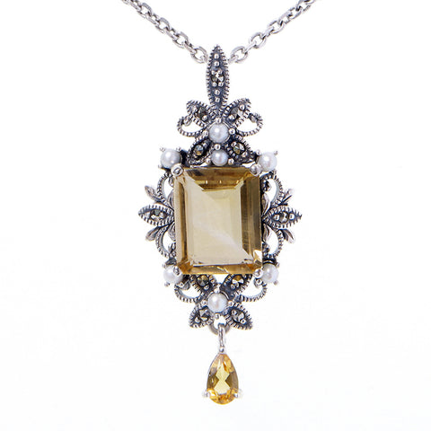 Edwardian style Small Lavalliere (Citrine)