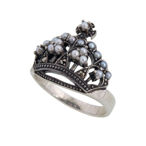 Seed Pearl Crown Ring
