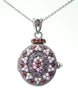 Seed Pearl and Marcasite Locket Pendant (Garnet)