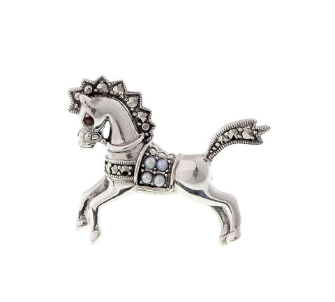 Carousel Horse Brooch Pin