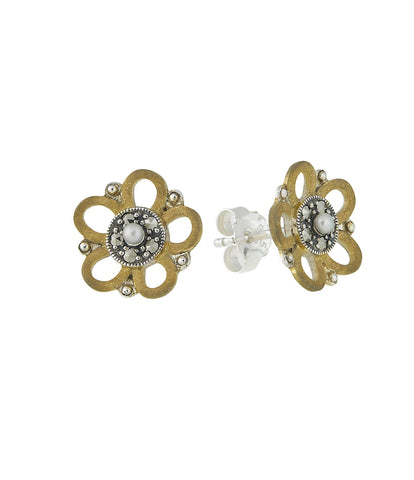 Petite Plum Flower Stud Earrings