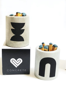 CONCRETE PALO SANTO MATCH HOLDER