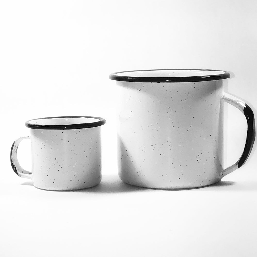 ENAMEL COFFEE MUG
