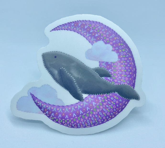 Embroidered Whale Sticker