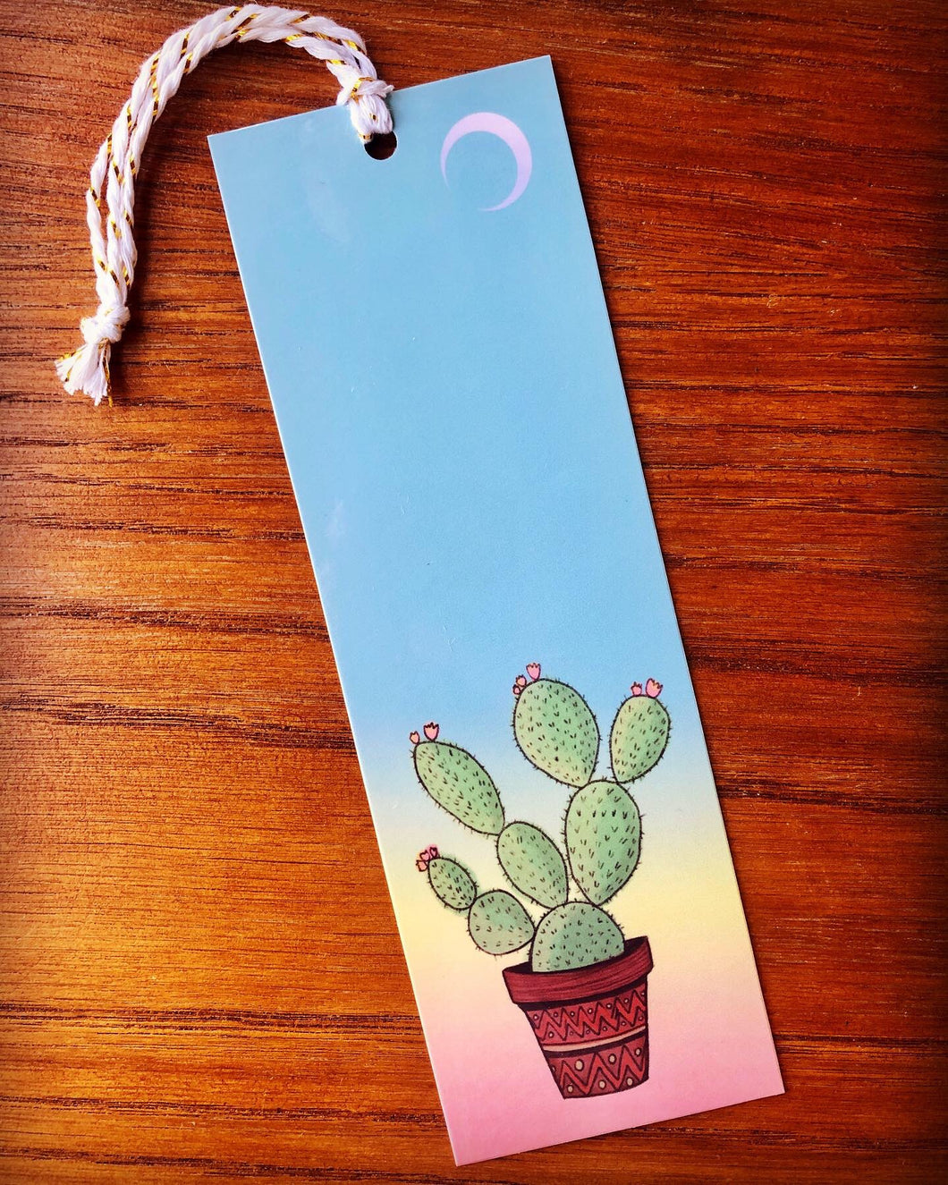 Sunset Cactus Bookmark