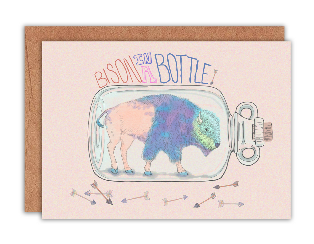 Bison in a Bottle Card