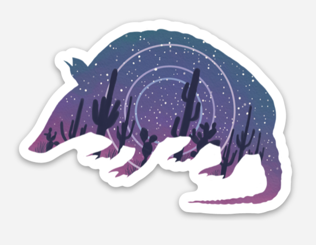 Star-madillo Sticker