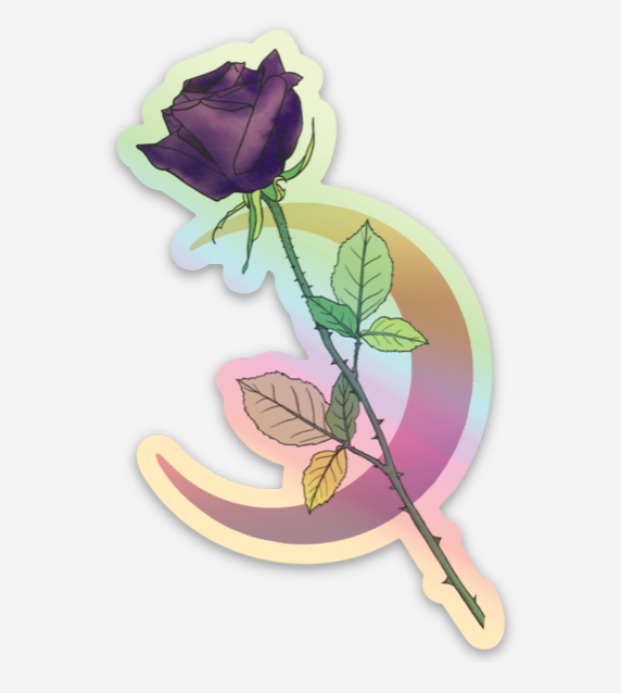 Holographic Rose Sticker