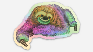Holographic Sloth Sticker
