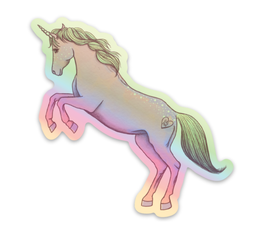 Holographic Unicorn Sticker