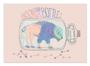 Bison in a Bottle 8x10 Print