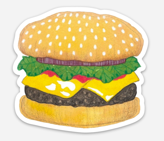 Burger Sticker