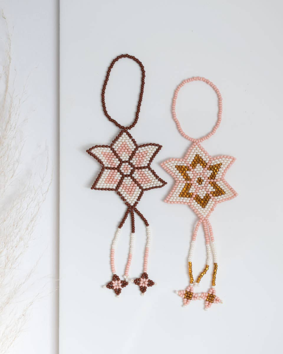 Star Ornament Pink/Gold