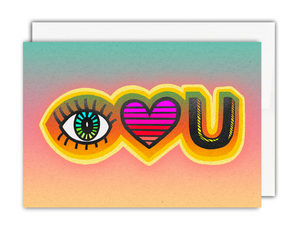 Eye Love U Card