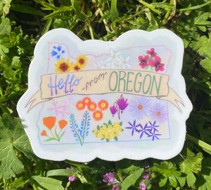 Wildflowers of Oregon Sticker