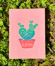 Load image into Gallery viewer, Cactus Block Printed Notebooks