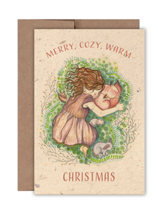 Merry, Cozy, Warm, Christmas Card