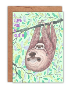 I Love You a Sloth Card