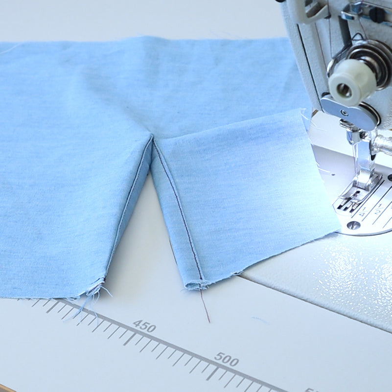Sew a continuous bound placket