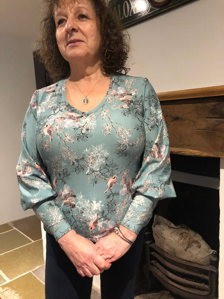 Forget-Me-Not Patterns Vera top pattern test make in viscose jersey
