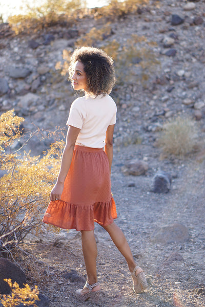 Forget-Me-Not Ella skirt make, in lightweight viscose and unlined, by Nastasia