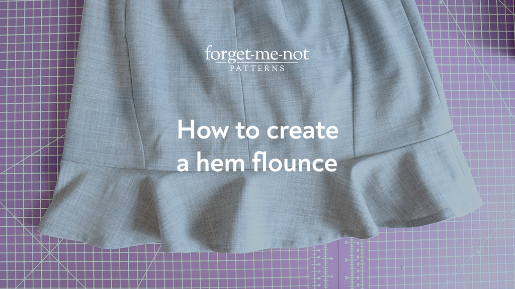 Adding a hem flounce sewing tutorial