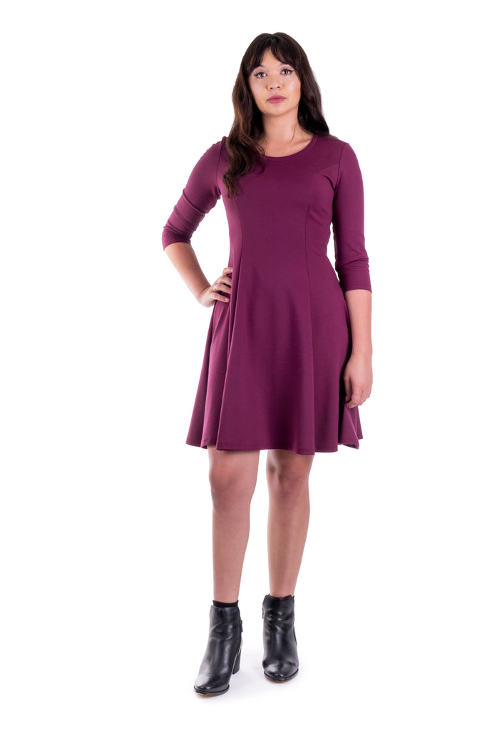 Clementine dress with scoop neck - front view